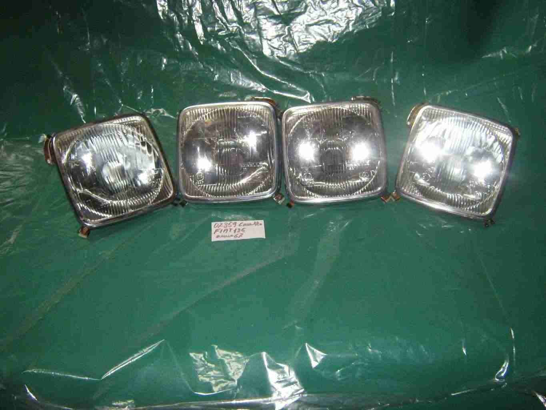 Proiettori per vettura fiat 125 kit 4 fari d'epoca