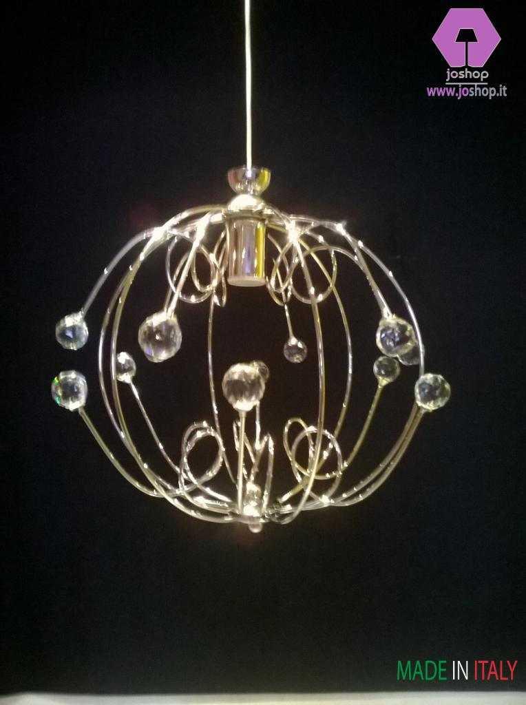 joshop lampadario moderno sfera tipo swarowski cristallo  nuovo tendenze
