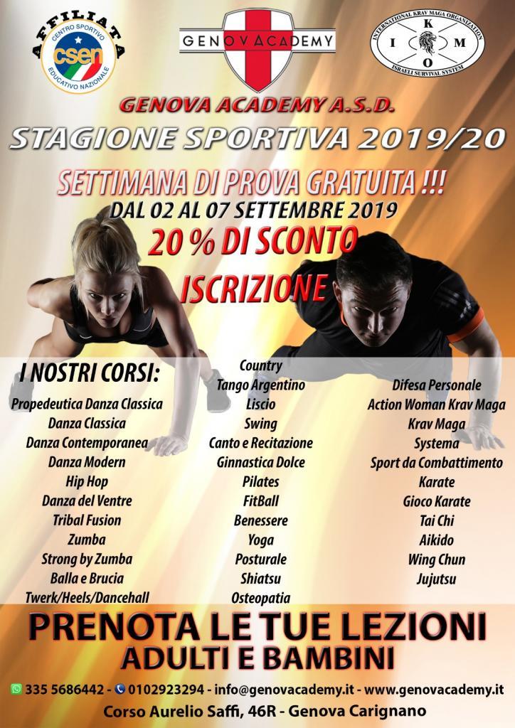 Nuova Stagione Sportiva Genova Academy A.S.D.