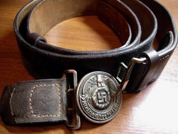 Original German Waffen SS Belt & Buckle, RZM 36/38SS Olc