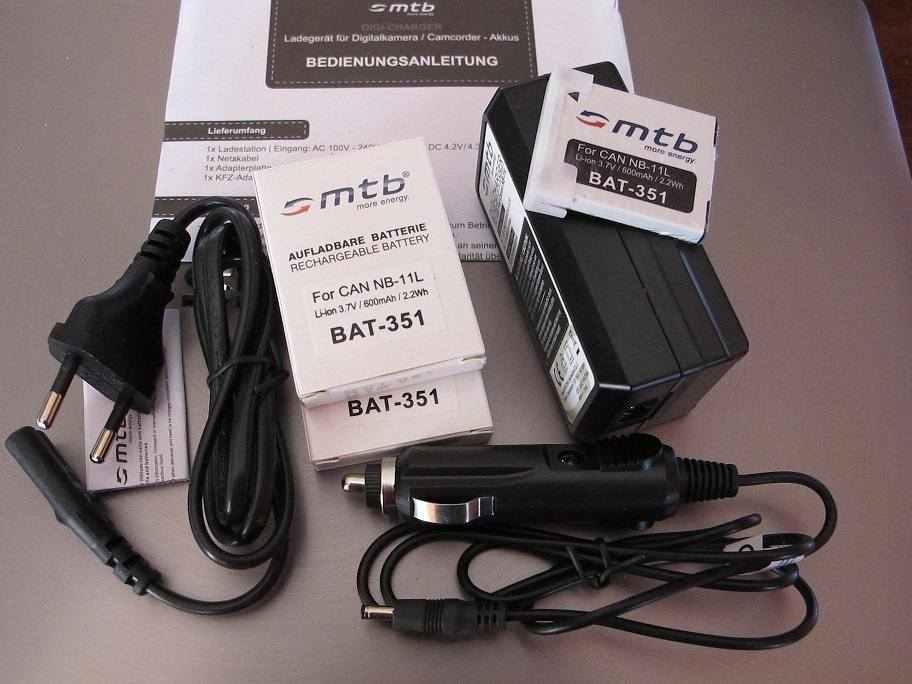 mtb digi charger dcl 638 cannb 11L +2 batt.lio-ion 351