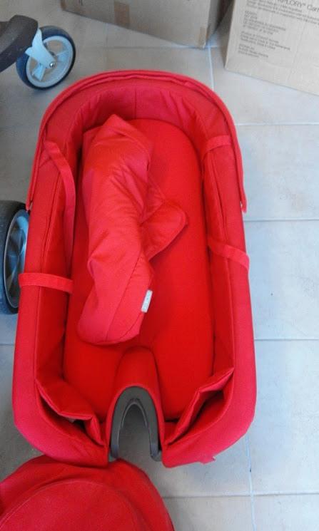 vendo passeggino TRIO STOKKE XPLORY Rosso
