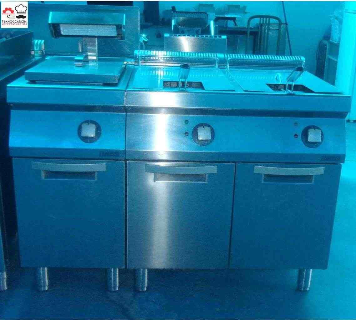 Friggitrice 2 vasche Zanussi con scaldapatate