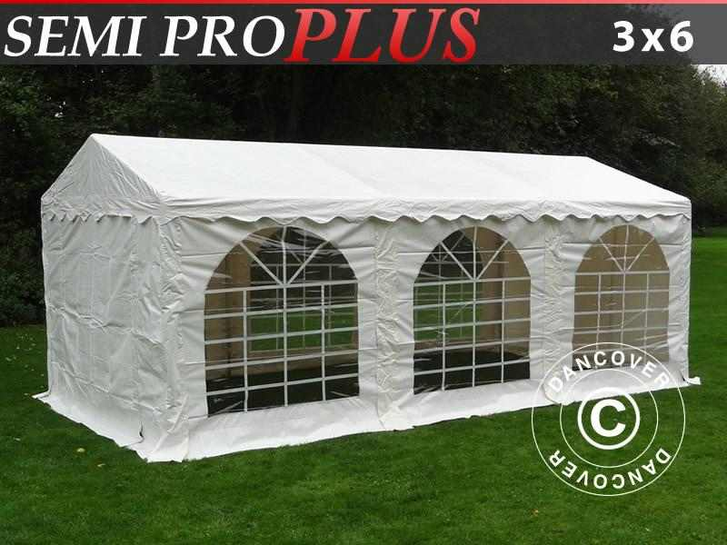 Tendone per feste SEMI PRO Plus 3x6m PVC, Bianco