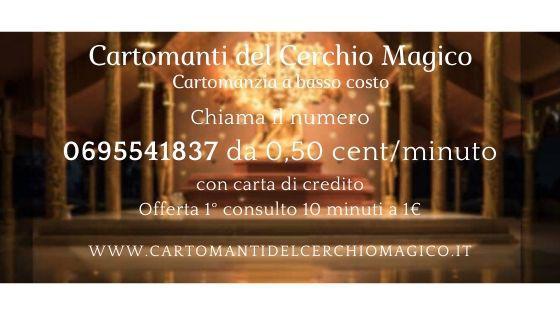 CARTOMANZIA A BASSO COSTO, OFFERTA 10 MIN DI CONSULTO A 1€