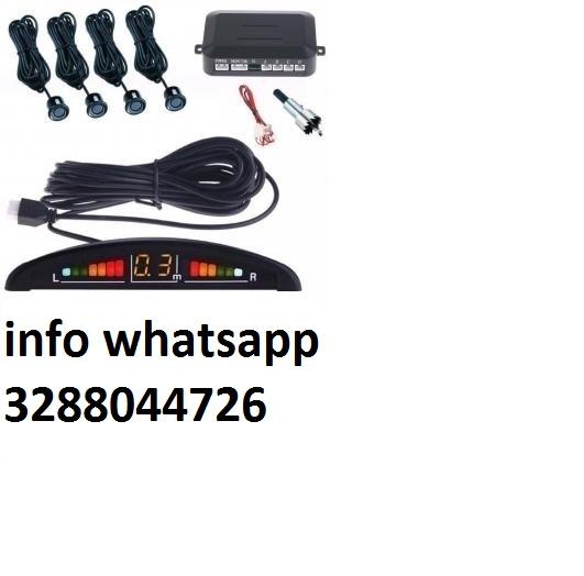 Kit 4 sensori di parcheggio con display led+suono neri