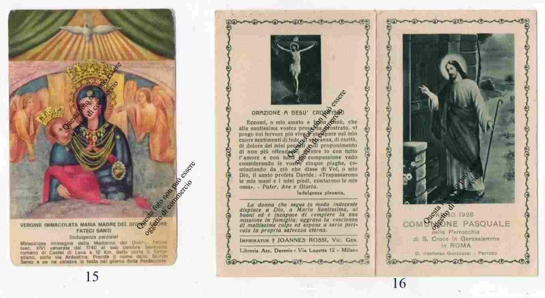 Lotto di 12 Santini del secolo scorso -Vari Santi e Beati - Varie date