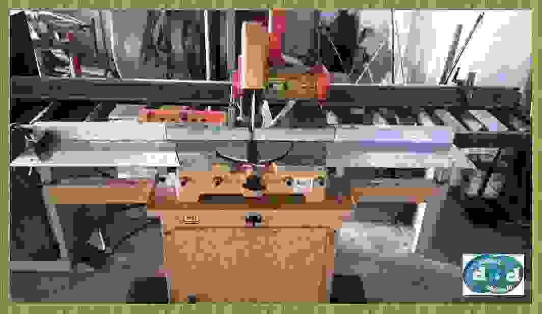 TRONCATRICE MONOLAMA Ø 300 CON BASE ASPIRANTE E PIANO DIAGRAMMATO  MAGH  T/300 USATA COD. F115