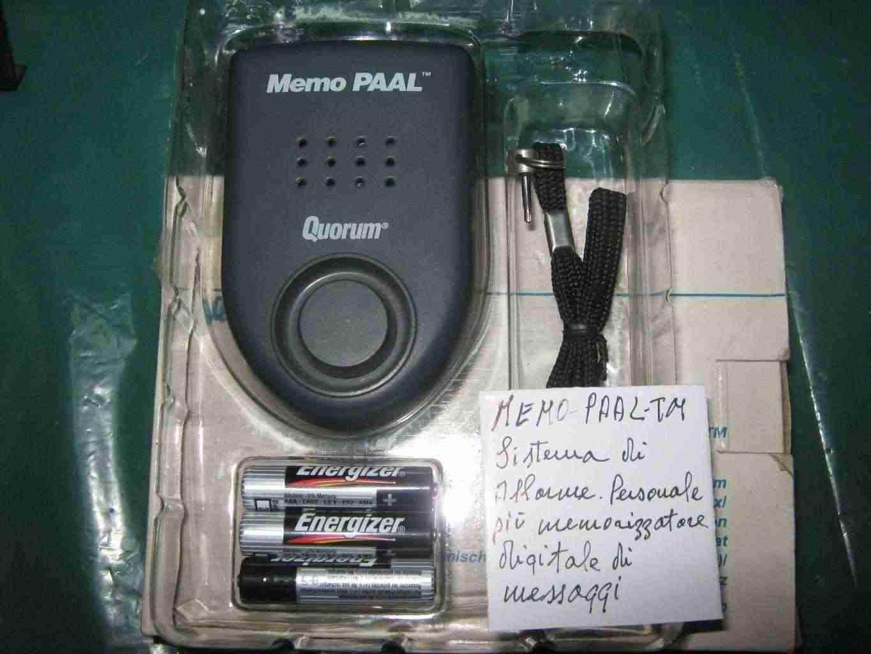 Anti furto per oggetti portateli e memorizzatore di messaggi