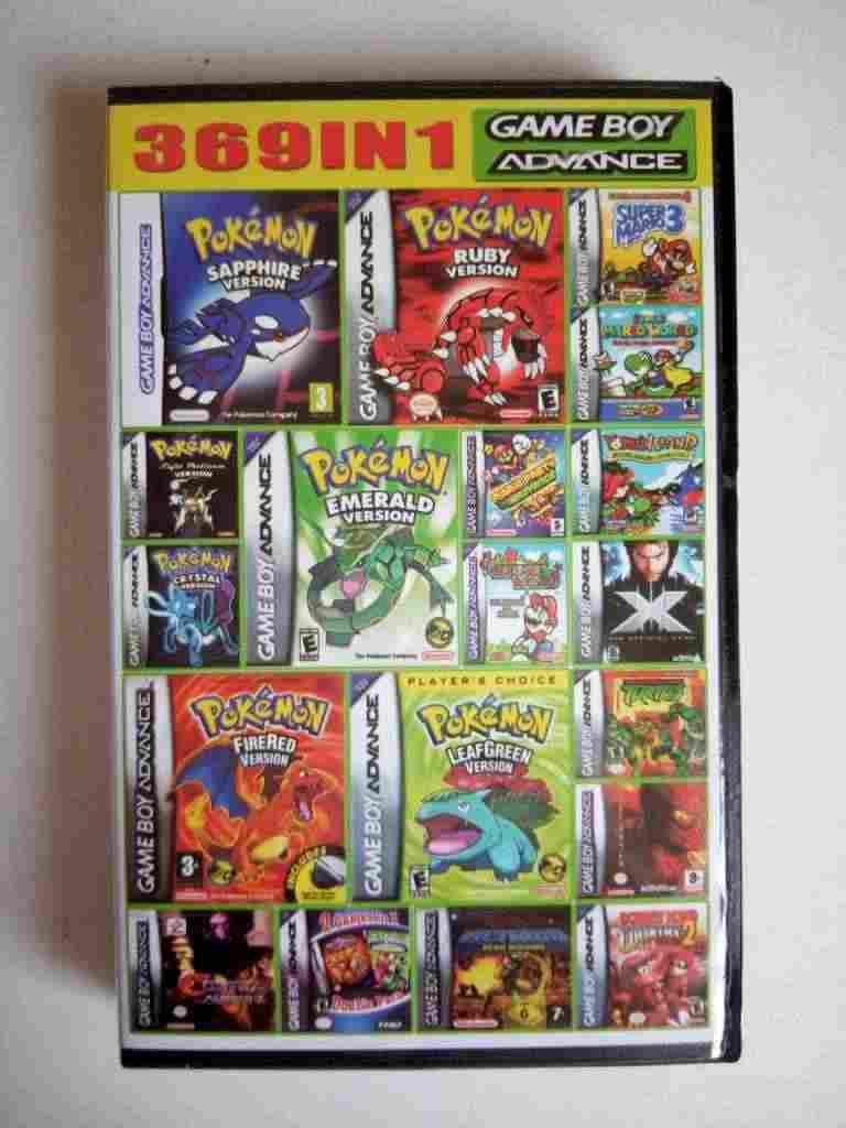 Gameboy Advance cartridge 369 games in 1, Multi games Super Mario