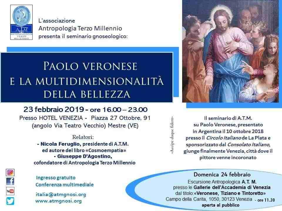 Paolo il Veronese e la Multidimensionalità della Bellezza (seminario+visita museale G.A.)