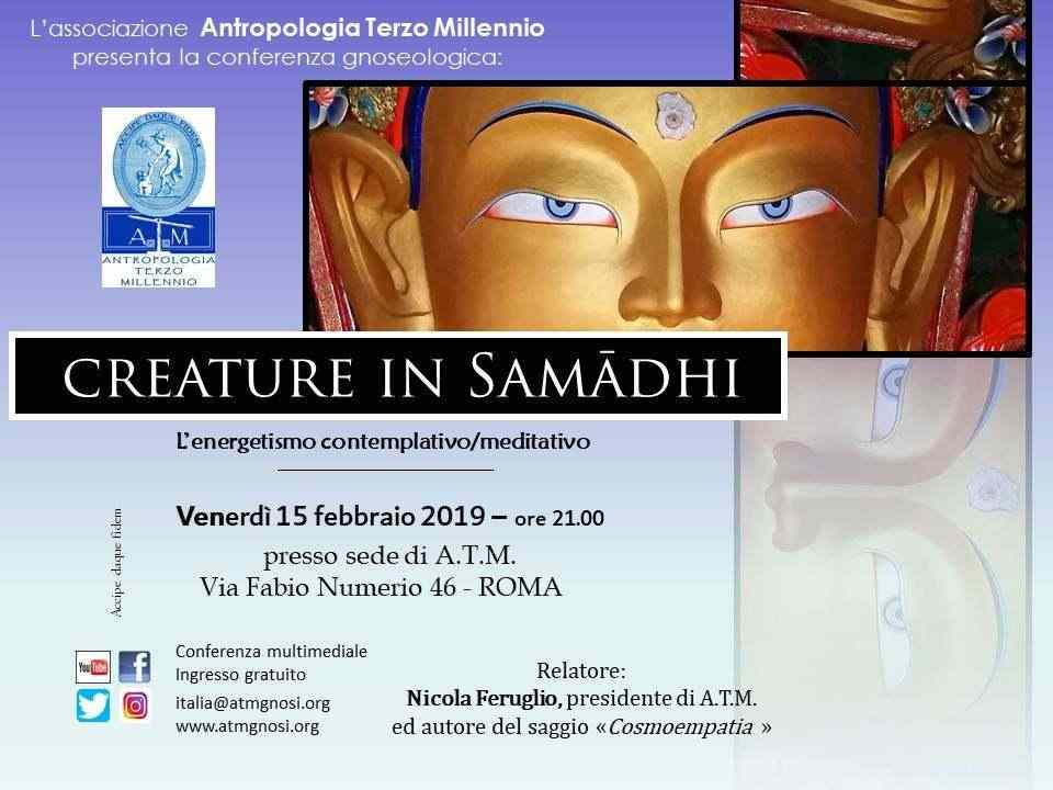"""Creature in Samādhi"" (conferenza gnoseologica)"