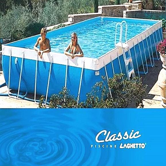 PISCINA LAGHETTO CLASSIC RETTANGOLARE CM 280 X 400 X 120 H CM
