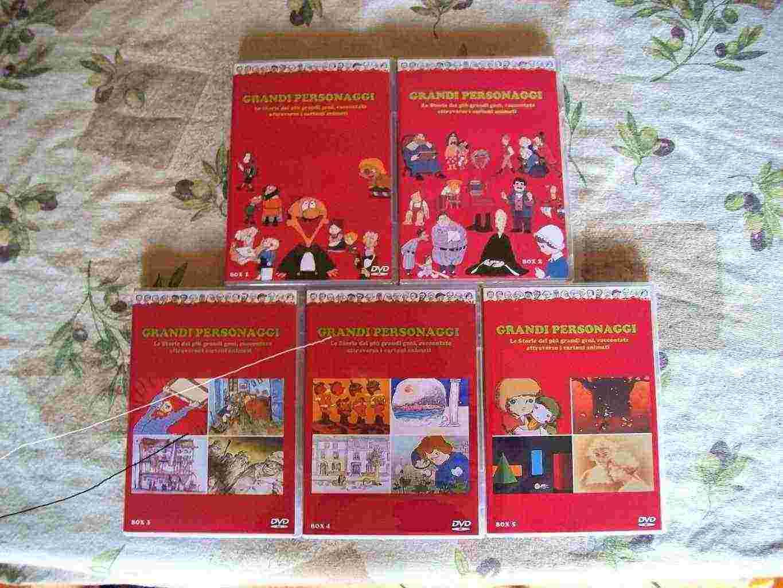 Grandi Personaggi serie animata rarissima in dvd