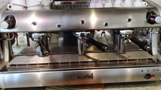 macchina da caffè professionale da bar compreso macina caffè